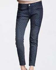 时尚波点修身女装长裤